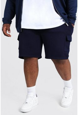 Navy Plus Mid Length Basic Cargo Short
