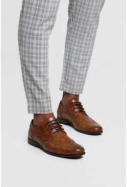 Mens Tan Wingcap Brogue