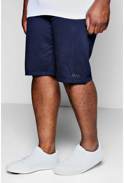 Navy Plus Size MAN Dash Basket Ball Short