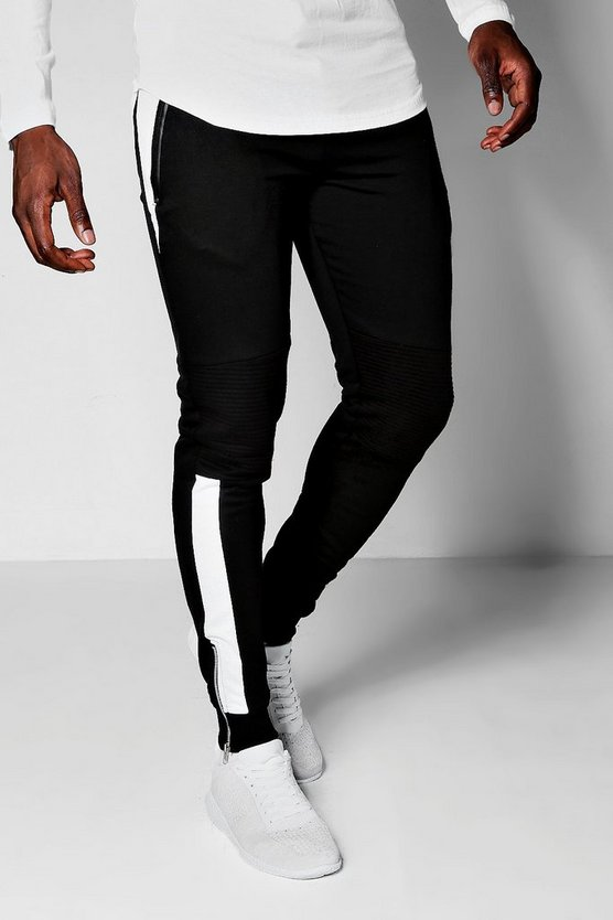 Biker Panel Tapered Skinny Fit MAN Joggers