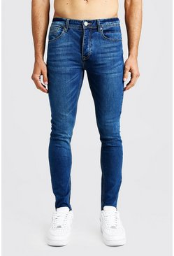 Denim-Jeans enge Passform, Blau