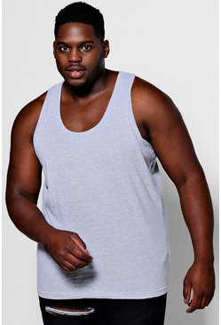Grey Plus Size Basic Singlet
