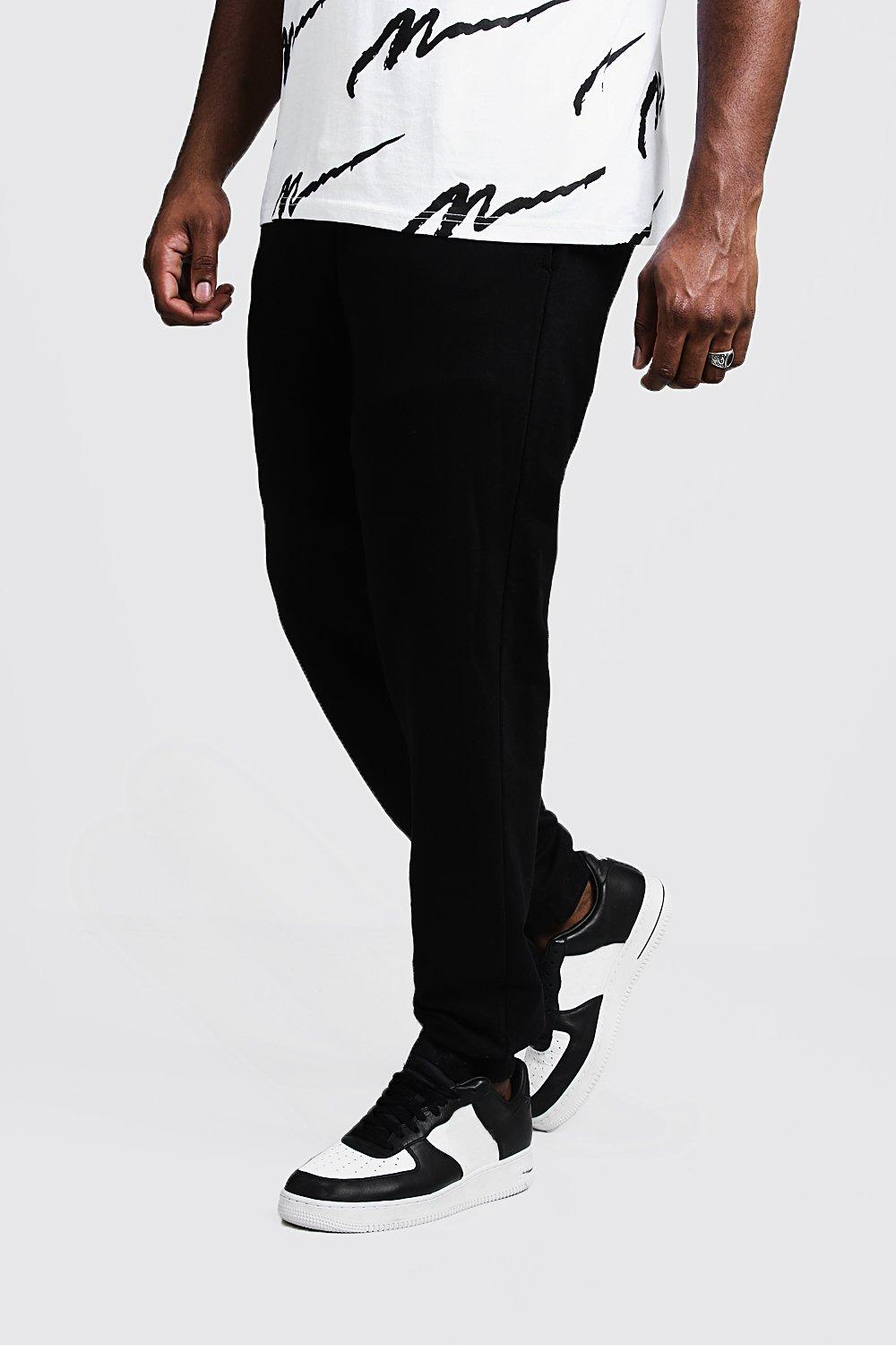 f7a1edeaffe2ef Mens Black Big And Tall Boohoo Man Joggers. Hover to zoom