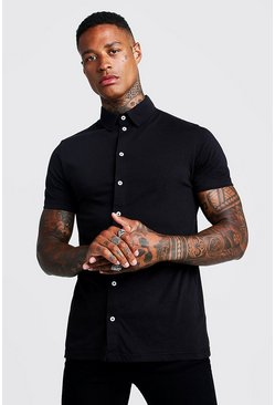 Black Short Sleeve Jersey Shirt