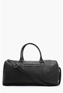 Black Smart PU Holdall Bag