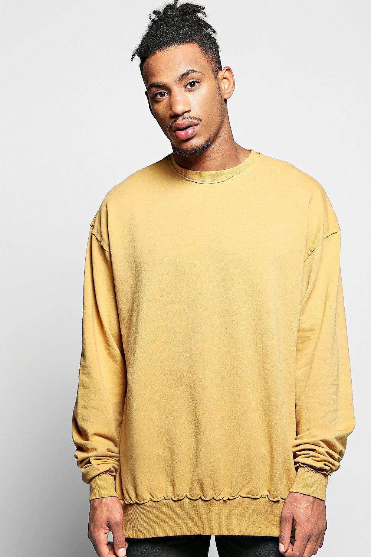 Oversized Longline Sweatshirt   boohooMAN