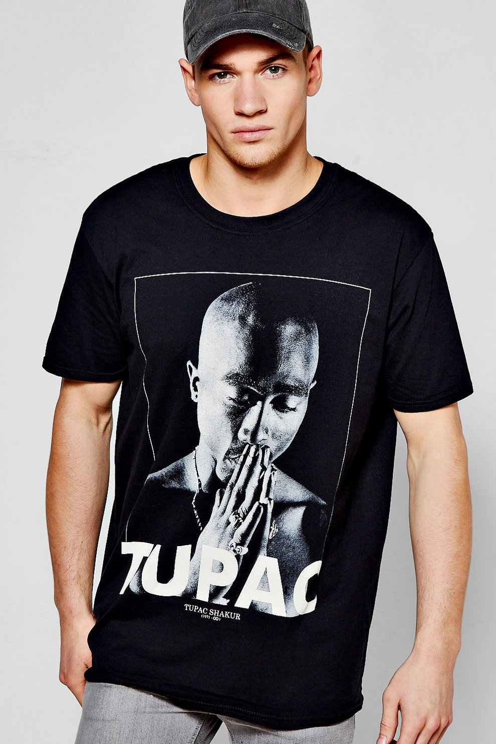 fcf4ebaa Mens Black 2Pac License T-Shirt. Hover to zoom