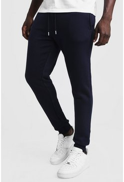 Mens Navy Slim Fit Joggers