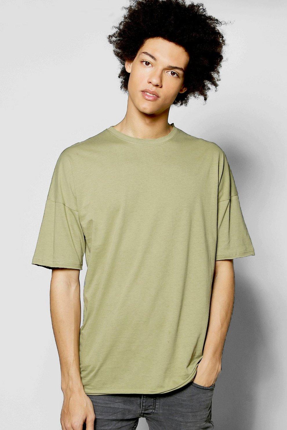 3e165589 Oversized Crew Neck Raw Edge T Shirt - boohooMAN