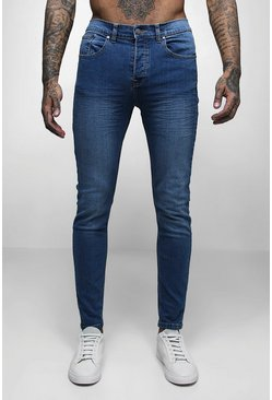Mid Blue Wash Skinny Fit Jeans