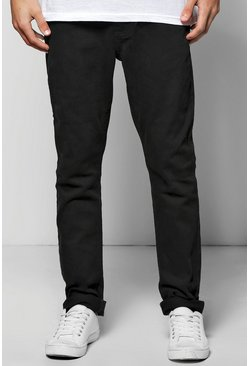 Mens Slim Stretch Black Jeans