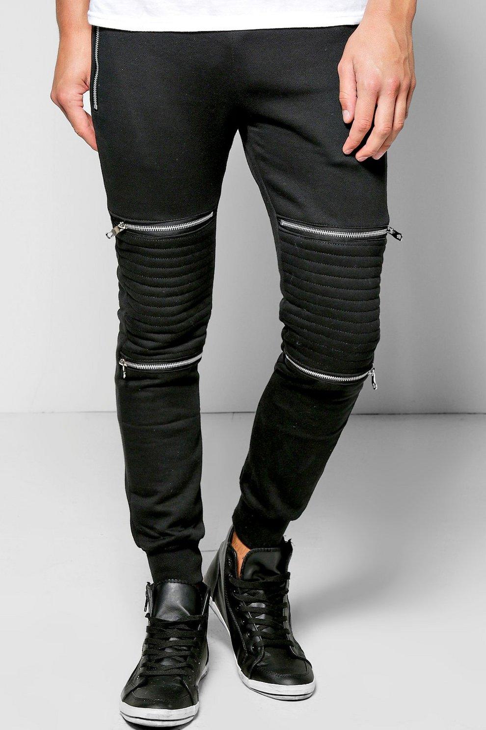 7daab887e4 Schmal geschnittene Jogginghose im Biker-Stil mit ...
