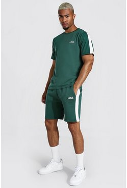 Green Offcl Side Panel T-shirt & Short Set