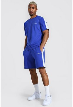 Cobalt Man Signature Side Panel T-shirt & Short Set