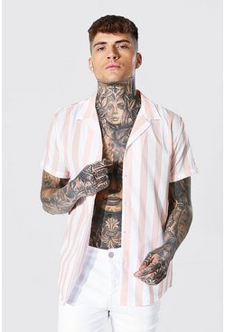 Stone Short Sleeve Stripe Shirt