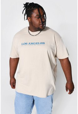 Sand Plus Size Los Angeles City Graphic T-Shirt