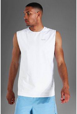White Tall Man Active Luxe Tank
