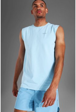 Light blue Tall Man Active Luxe Tank