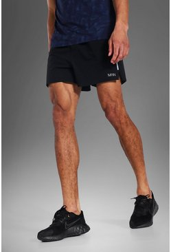 Black Tall Man Active Running Shorts