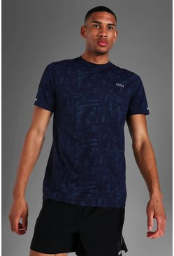 Navy Tall Man Active Abstract Print T-shirt