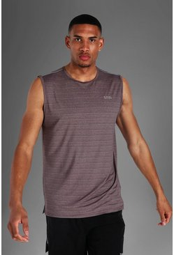 Charcoal Tall Man Active Textured Tank