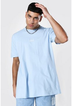Light blue Oversized Offcl T-shirt