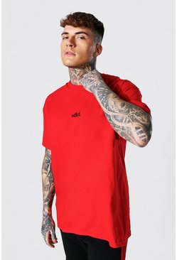 Red Oversized Offcl T-shirt