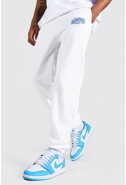 Regular Fit Varsity Homme Graphic Jogger, White