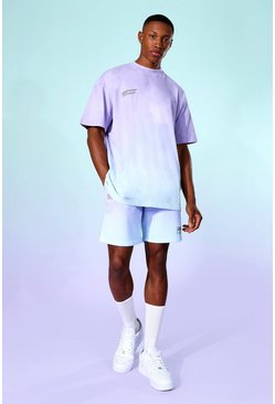 Lilac Ombre T-shirt And Ombre Short Set