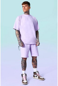 Lilac Oversized T-shirt And Short Set