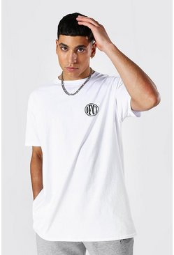 White Oversized Ofcl Crew Neck T-shirt