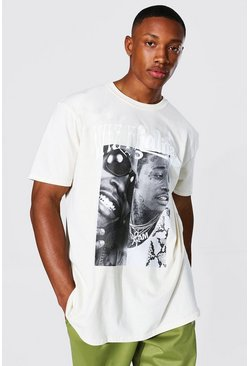 Sand Oversized Spliced Wiz Khalifa License T-shirt