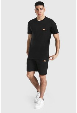 T-shirt et short arc-en-ciel, Black