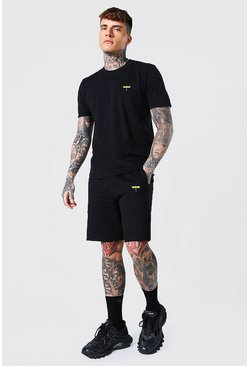 T-shirt libellule et short, Black