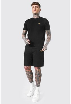 T-shirt et short abeille, Black