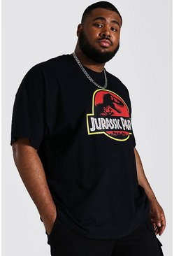 Black Plus Size Jurassic Park License T-shirt