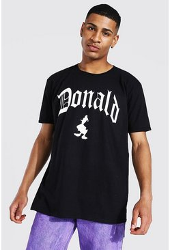 Black Oversized Donald Duck License T-shirt